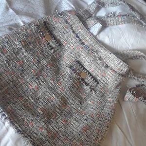 Zara Basic Skirt with  overalls.